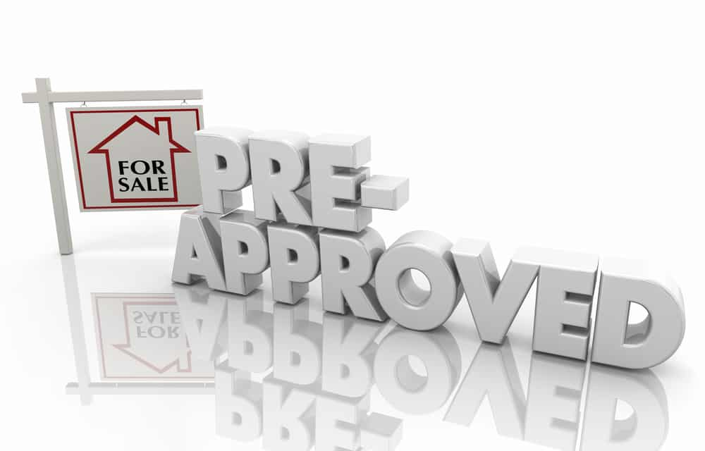 """Graphic of pre-approved text and little """"for sale"""" sign"""
